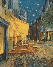 "26"" WALL JACQ. WOVEN TAPESTRY Cafe Terrace at Night -Van Gogh Art EUROPEAN DECOR"