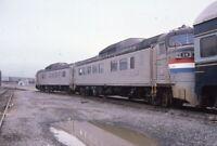 AMTRAK Railroad Train ex New Haven Locomotive SELKIRK NY 1984 Photo Slide