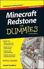 Minecraft Redstone for Dummies® by Jacob Cordeiro (2014, Paperback)