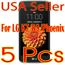 5x New LG K7/K8/Phoenix Screen Protector Film High Definition (HD) Clear  (USA)