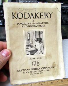 vintage June 1918 Kodakery photographers magazine, great old photos & info