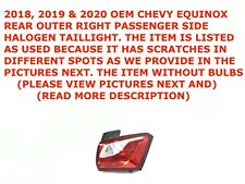 2018 19 2020 Chevy Equinox rear outer right side HALOGEN taillight 84373388 #1
