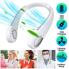 Rechargeable Electric Bladeless Neck Fan Portable Air Cooler Mini Hanging Sports
