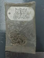 Metal Church Vintage Concert Tour I.D. Tag Necklace (New Sealed! Heavy Metal