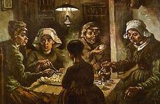 Grande STAMPA INCORNICIATA-Vincent Van Gogh Potato Eaters REPLICA (FOTO PITTURA)
