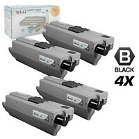 LD Compatible Okidata Type C17 / 44469802 4PK HY Black Toner Cartridges