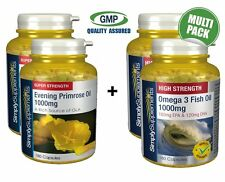Evening Primrose Oil 1000mg 360 Capsules+Omega3 1000mg 360 Capsules Heart Health