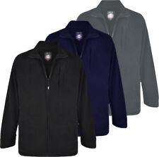 Mens KAM Smart Premium Fleece Performance Jacket Coat Black Big Size S-8XL