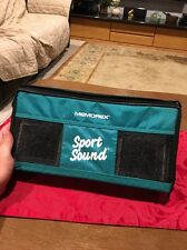 Memorex Green Sport Sound Cassette Tape Case with Adjustable Shoulder Strap