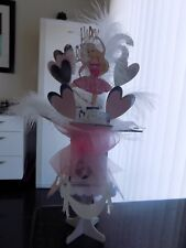 Barbie, Princess, Ballerina or Fairy personalised pop out card and stand any age