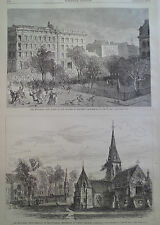 2 Views Montreal Canada Riots Murder of Hackett Aug 4th 1877 HARPER'S WEEKLY