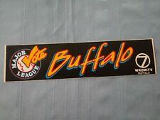 Vintage 90s Buffalo New York Major League Vote Bumper Sticker - Buffalo Ny Wkbw