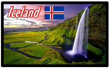 ICELAND - SOUVENIR NOVELTY FRIDGE MAGNET - SIGHTS / TOWNS - GIFTS / BRAND NEW