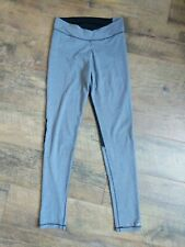 Women's Cuddl Duds Leggings Yoga Pants Active Gray Black Mesh Inserts XS