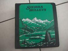 Sierra Bullets rifle reloading manual