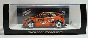 SPARK S5968 FORD FIESTA #14 H. SOLBERG C. MENKERUD WRC RALLY SWEDEN 20018 1/43