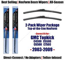 2pk NeoForm Wipers 2003-2009 GMC Topkick C4500 C5500 C6500 C7500 - 16220x2