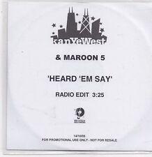 KanYeWest&Maroon 5-Heard Em Say Promo cd single