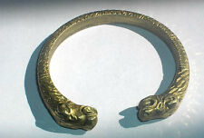NICE DESIGN 70 Gram SNAKE HEAD SYMBOL SOLID BRASS BANGLE BRACELET INDIA