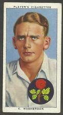PLAYER'S 1938 CRICKETERS  C. Washbrook Card No 30 of 50 CRICKET CIGARETTE CARDS