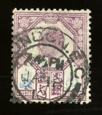 (Printing Flaw?) Gb #134 Sg242 Used Kevii 5d Stamp - Some Blue Ink Missing