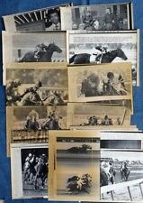 AFFIRMED & ALYDAR, FOREGO, SEATTLE SLEW - LOT OF 16 HORSE RACING WIRE PHOTOS!