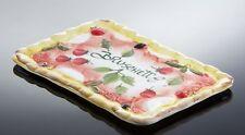 BASSANO Bruschetta Teller Servierplatte Ausgefallene italienische Keramik 35x24