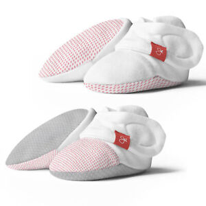 Goumikids Organic Stay On Baby Boots Infant Booties, 3-6M & 6-12M Pink (2 Pair)