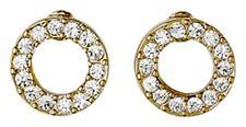 Pilgrim Hoop Stud Earrings Gold Plated Crystal 61131-2013