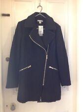 ladies black coat size 16 From H&M