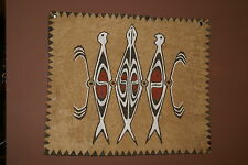 Tapa Kapa Lake Sentani Bark Cloth Symbolic Authentic Abstract Tribal Painting 1