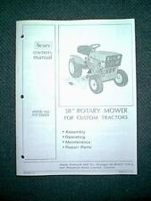 "SEARS CRAFTSMAN TRACTOR 38"" MOWER DECK MODEL #  917252031 OWNER / PARTS MANUAL"
