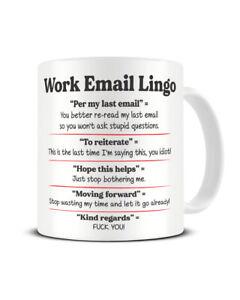 Corporate Email Lingo Mug Office Mug Work Mug Funny Coffee Mug Gift Secret Santa