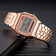 LED Digital Casual Stainless Steel Electronic Strap High Quality Wrist Watch