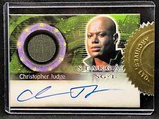 STARGATE SG-1 TV Autograph Costume Expansion Card - CHRISTOPHER JUDGE AC4