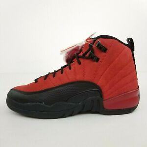 Air Jordan 12 Retro (GS) Reverse Flu Game Black Red 153265-602 New Shoes No Lid