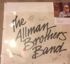 Jazzfest Stage Placard Allman Brothers Band signed Dickie Betts, Jaimoe