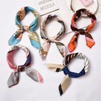 Fashion Elegant Women Head Neck Square Scarf Silk Feel Satin Hair Tie Band