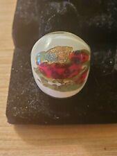 Glass Ring (moreno?) white, beautiful, vintage jewelry!
