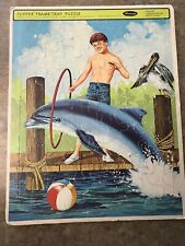 FLIPPER FRAME TRAY PUZZLE (Dated 1966) Dolphin
