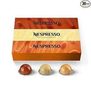 Nespresso Capsules VertuoLine, Barista Flavored 3-VarietyPack, Mild Roast, 30 Ct