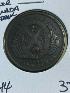 1844 Canada Lower Canada Bank of Montreal Half Penny!!