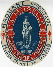 """BRASSERIE LA MOSELLE (BRUNE / MAQUART)"" Etiquette-chromo originale fin 1800"