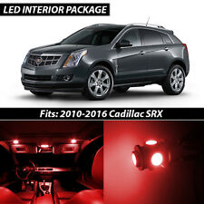2010-2016 Cadillac SRX Red Interior LED Lights Package Kit