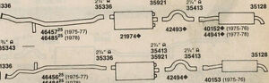 1975-77 LINCOLN MARK IV 460 DUAL EXHAUST, ALUMINIZED, 2 CONVERTERS, W/RESONATORS