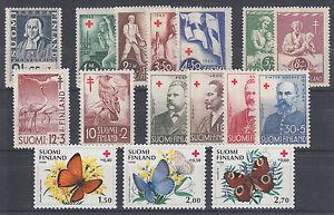 Finland Sc B20/B243 MNH. 1935-1990 issues, 4 cplt sets + 3 singles, VF