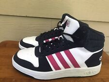 Adidas Hoops 2.0 Basketball Shoes Navy Blue/ Pink/White B75746 Youth Size 5.5Y