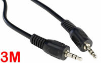 3M 3.5Mm Headphone Jack Extension Cable Male Aux Auxiliary 3 Metre Stereo Audio