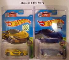 Bx4o2 Hot Wheels 2016 71/250 Yellow & Blue McLaren P1 w/ Protecto-Pak