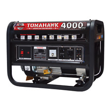 4000 Watt Generator Gas Power Portable Home Use Residential 120V Outlet Panel